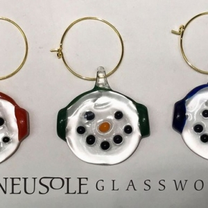 Glass Snowman Charm- Call to Schedule