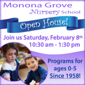Things to do in Madison, WI for Kids: Open House - MGNS, Monona Grove Nursery School