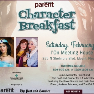 Things to do in Charleston, SC for Kids: Lowcountry Parent Character Breakfast, The Post and Courier