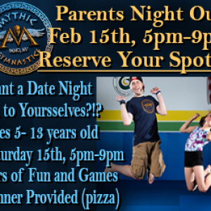 Things to do in Reno-Sparks, NV for Kids: Parent's Night Out, Mythic Gymnastics
