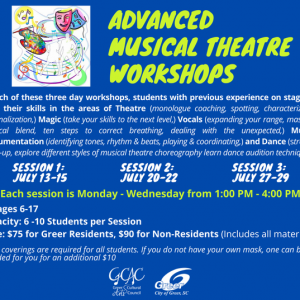 Greenville, SC Events: Advanced Musical Theatre Workshop