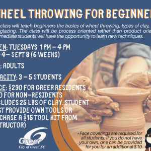 Greenville, SC Events: Wheel Throwing for Beginners