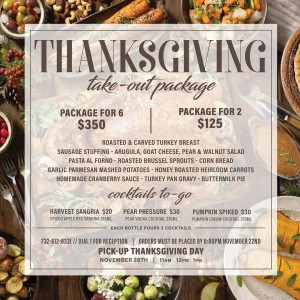 La Mondina Brielle: Thanksgiving take-out Package