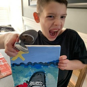 Mermaid Masterpieces: Virtual Paint Parties