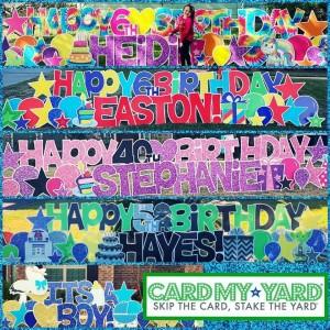 Card My Yard Greenwich: Birthday Yard Signs