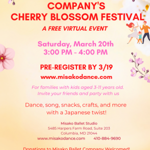 Things to do in Laurel-Columbia, MD for Kids: FREE Virtual Interactive Dance Event , Misako Ballet Studio