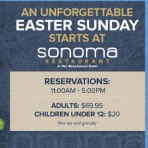 Sonoma: Easter Sunday Dinner
