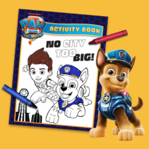 Score a Paw Patrol the Movie Coloring Sheet
