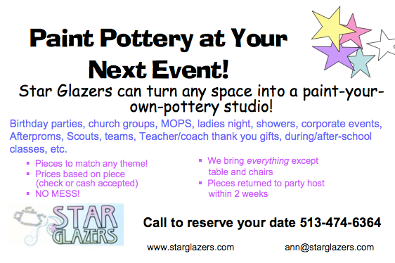 Star Glazers: Paint Pottery at Your Location
